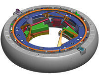 NASA Low Impact Docking System conceptual CAD model (retracted configuration)