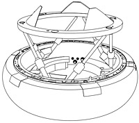 NASA Docking System CAD model – IDSS compliant; extended position ready for Soft Capture